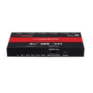 Front: 40-1063-HS-4 (Ver A) 1 x 4 HDMI Splitter 4K x 2K 30\60hz Ultra HD, HDR, 4:4:4