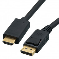 Active 4Kx2K@30Hz, Male Plug DisplayPort to HDMI Male Plug Cable, 15 Ft. Long
