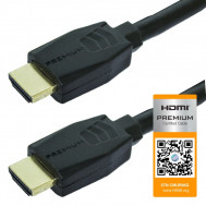 Premium HDMI Type A Male to HDMI Type A Male High Speed Cable, 4K Ultra HD, 25 Ft. Long