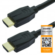 Premium HDMI Type A Male to HDMI Type A Male High Speed Cable, 4K Ultra HD, 6 Ft. Long