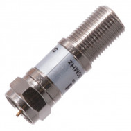 "Female ""F"" to Male ""F"" Inline 16 dB Attenuator, 75 Ohm"