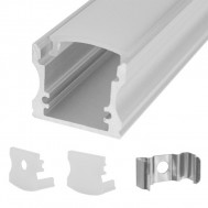 L.E.D Rectangle Aluminum Housing, Surface Mount, 4 Ft. Long