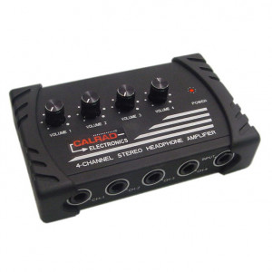 4 Channel Stereo Headphone Amplifier with Individual Volume