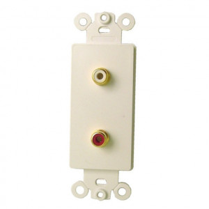 Double RCA Jacks with Plastic Insert