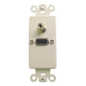 Solderless High Density DB-15 Jack with White Plastic Insert Plate