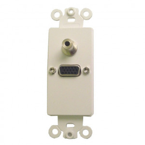 High Density DB-15 Gold Plated Feed Thru Jack with White Plastic Insert Plate