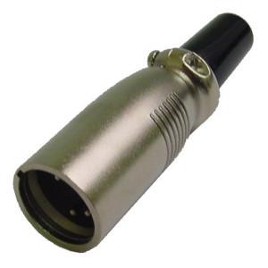 5 Pin Inline XLR Male Plug with Black Housing