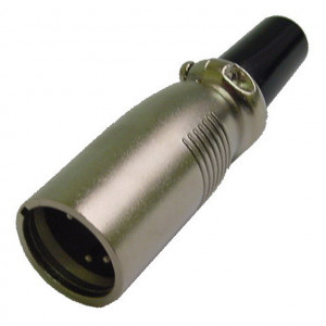 5 Pin Inline XLR Male Plug with Silver Housing