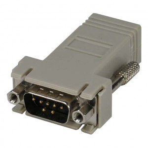 Female DB-9 to RJ45 Jack, Metal Hood