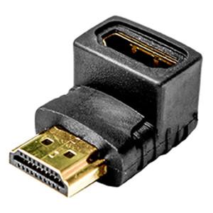 Right Angle HDMI Jack to HDMI Jack Adapter (Down 270 Degrees), 5 Pcs