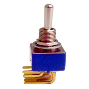 DPDT PC Miniature Circuit Board Right Angle Mounting Switch, ON-ON