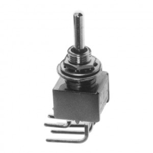 DPDT PC Miniature Circuit Board Right Angle Mounting Switch, ON-OFF-ON