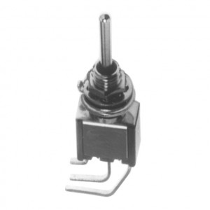 SPDT PC Miniature Circuit Board Vertical Mounting Switch, ON-OFF-ON