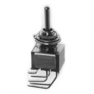 DPDT PC Miniature Circuit Board Vertical Mounting Switch, ON-ON