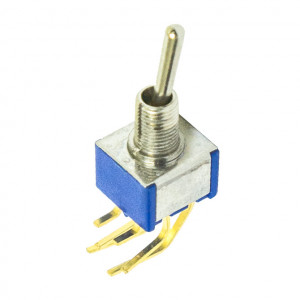 DPDT PC Miniature Circuit Board Vertical Mounting Switch, ON-OFF-ON