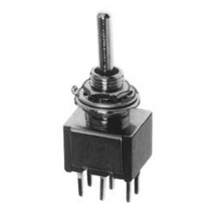 DPDT PC Miniature Circuit Board Mounting Switch, ON-OFF-ON