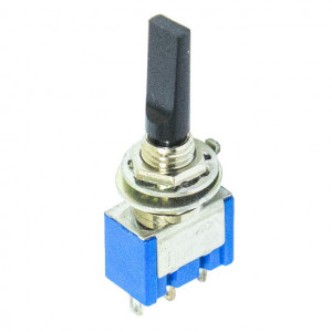 SPDT Miniature Flat Toggle Switch, ON-OFF-ON Momentary