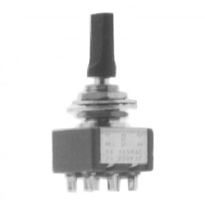 DPDT Miniature Flat Toggle Switch, ON-ON
