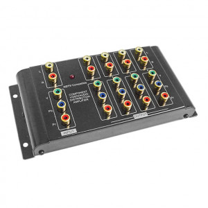 1 x 4 Component Video and Analog Audio Distribution Amplifier