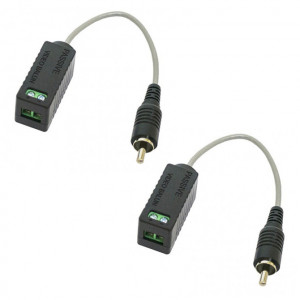 Passive Balanced Signal Converter PIGTAIL Using UTP CAT 5, CAT 6 Cable (Pair)