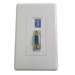 Designer Style Insert Wall Plate VGA Balun Over CAT 5e (Pair)
