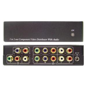 1 x 2 Component Audio Video Distribution Amplifier