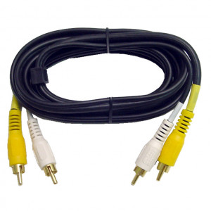 Video/ Mono Audio Interface Molded Dubbing Cable, Gold Plated 6 Ft. Long
