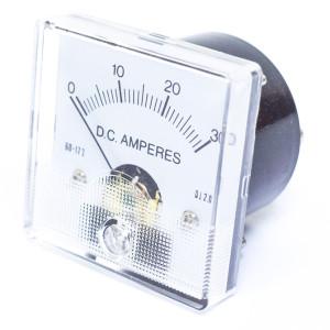 0-30 Amp DC, 1 3/4 Inch Panel Meter
