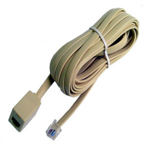 White Modular 4 Wire Extension Cord, 14 Ft. Long