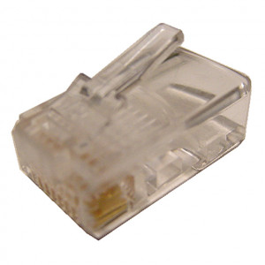 Modular Plug RJ45 8 Wire for Flat Cable Type, 5 pcs