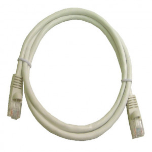 White RJ45 Snagless Cable - 350 MHz CAT 5e, 3 Ft. Long