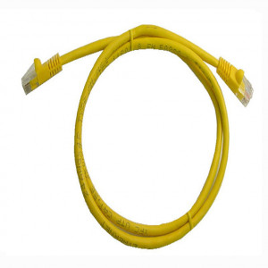 Yellow RJ45 Snagless Cable - 1 GHz CAT 6, 1 Ft. Long, 5 Pcs