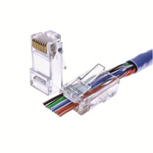 72-495C-10, 10PK Cat6 EZ Pass Through Connectors