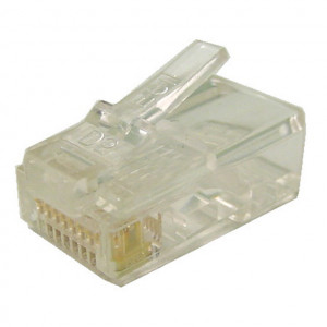 Modular Plug RJ45 8 Wire for CAT 6 Cable, 25 pcs