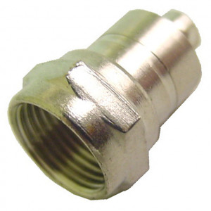 F-59 Connector with Ferrule Attached for RG59 Cable, Gold Plated