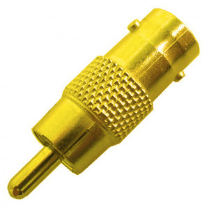 BNC Female to RCA Male Adapter, Gold Plated