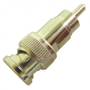RCA Male to BNC Male Adapter