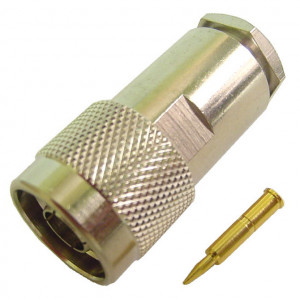 """Male """"N"""" Connector for RG-8/11, 213/214"""