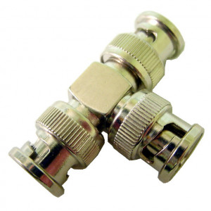 """3 BNC Males, """"T"""" Style Adapter"""