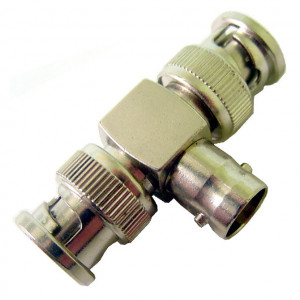 """2 BNC Males to 1 BNC Female, """"T"""" Style Adapter"""