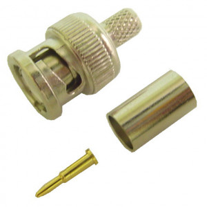 BNC Crimp-On Connector for RG-59, 75 Ohm