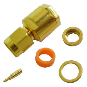 SMA Male Connector for RG-58A with Gold Plated Contacts