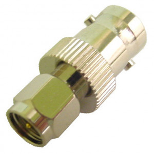 BNC Jack to SMA Plug Adapter with Gold Plated Contacts
