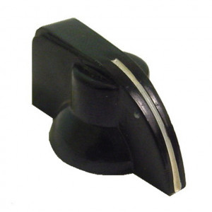"1 1/4"" Dia. Black Pointer Knob"