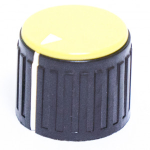 "3/4"" Dia. Black Base with Yellow Cap Knob"