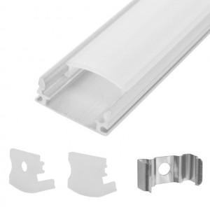 Slim L.E.D Rectangle Aluminum Housing, Surface Mount, 4 Ft. Long