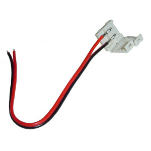"Single Color 2-Wire L.E.D Strip to Power, 5"" long"