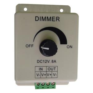 Inline Single Color L.E.D. Lighting Knob Dimmer (8 Amp)