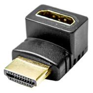 Right Angle HDMI Jack to HDMI Jack Adapter (Up 90 Degrees), 5 Pcs