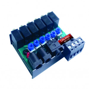 6 Port Amplified IR Distribution Block with Individual Signal Controls